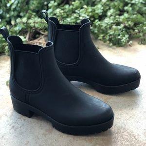 Jeffrey Campbell Matte Black Chlesea Rain Boots